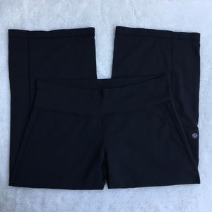 Lululemon Crop Wide Leg Black Pants Size 8
